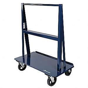A-Frame Panel Truck, 3000 lb. Load Capacity, (4) Swivel Caster Wheel Type
