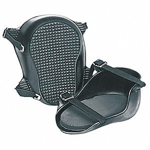 Hard Shell 2-Strap Knee Pads, Black
