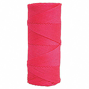 Masons Line,500 ft,Braided Nylon,Pink
