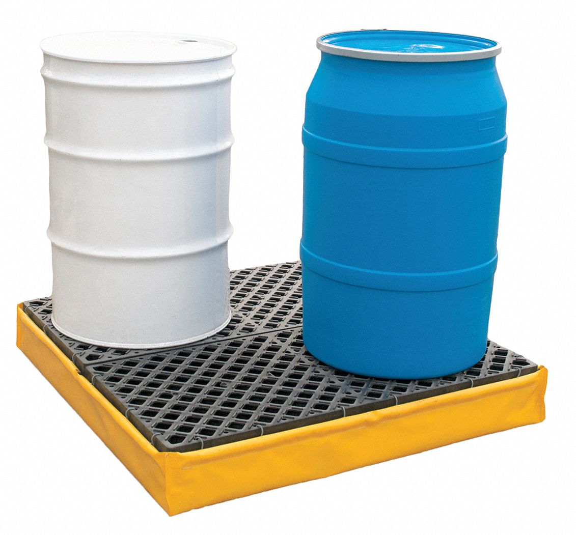 Spill Capacity Spill Containment Pallets 7 gal Uncovered
