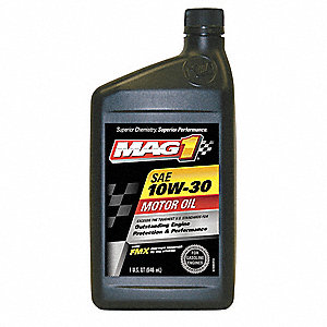 Conventional Engine Oil, 1 qt. Bottle, SAE Grade: 10W-30, Amber
