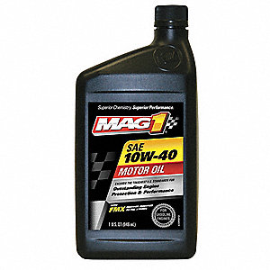Conventional Engine Oil, 1 qt. Bottle, SAE Grade: 10W-40, Amber