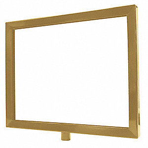 Sign Frame,Satin Brass,11 x 14In