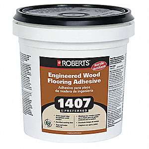 Beige 1 gal. Engineered Wood Flooring Adhesive, 24 to 48 hr. Curing Time, 1 EA