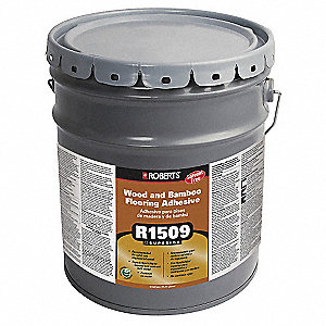 Beige 4 gal. Wood and Bamboo Flooring Adhesive, 8 to 10 hr. Curing Time, 1 EA