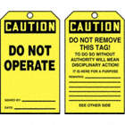 Caution/Do Not Operate / Caution/Do Not Remove This Tag! Tags
