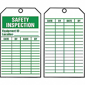 Inspection Tag, Roll, 6-1/4 x 3, PK250