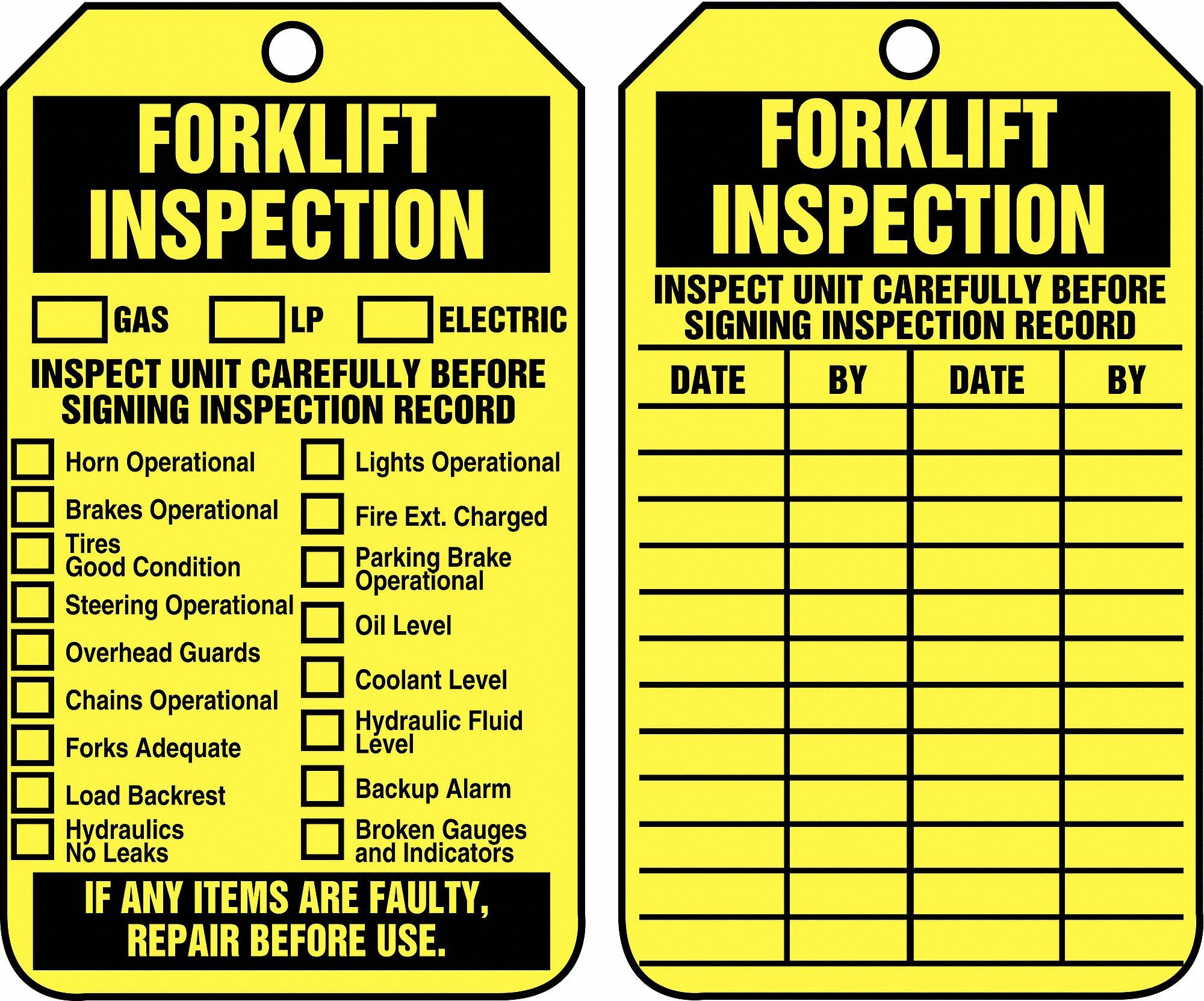 Accuform inspection tag 5 3 4 x 3 1 4 pk25 43z291 trs305ptp grainger