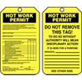 "10 mil PF Cardstock, Hot Work Permit Permit Tag, 5-3/4"" Height, 3-1/4"" Width"