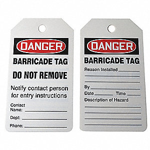 OSHA Safety Tags - Identification Tags - Grainger Industrial