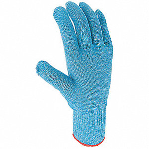 Uncoated Cut Resistant Gloves, ANSI/ISEA Cut Level 4, Blue, 8, EA 1