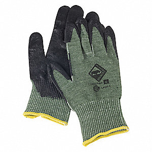 Leather Cut Resistant Gloves, ANSI/ISEA Cut Level 4, Rhino Steel Core Cut Resistant Knit Lining, Gre