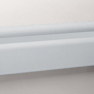 3 pc.,Wall Rail,Vinyl,Silver-Gray,144In