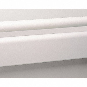 3 pc., Wall Rail, Vinyl, Linen White, 144In