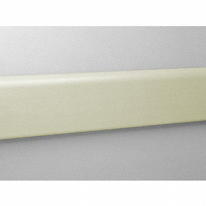 "Wall Protection Guard, Ivory, Vinyl/Aluminum, 144"" Length, 4"" Height, 3/4"" Thickness"