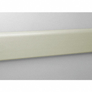 "Wall Protection Guard, Champagne, Vinyl/Aluminum, 144"" Length, 4"" Height, 3/4"" Thickness"