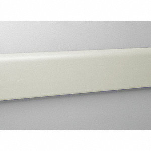 "Wall Protection Guard, Eggshell, Vinyl/Aluminum, 144"" Length, 4"" Height, 3/4"" Thickness"