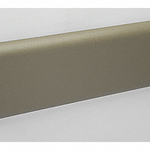 "Wall Protection Guard, Tan, Vinyl/Plastic, 144"" Length, 6"" Height, 1"" Thickness"