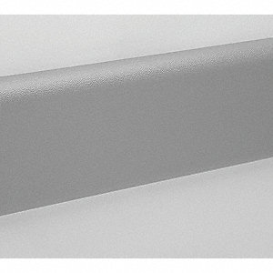 "Wall Protection Guard, Silver-Gray, Vinyl/Plastic, 144"" Length, 6"" Height, 1"" Thickness"