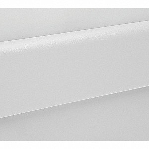 "Wall Protection Guard, Linen White, Vinyl/Plastic, 144"" Length, 6"" Height, 1"" Thickness"
