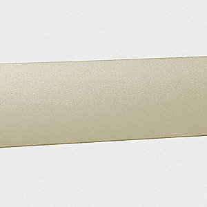 "Wall Protection Guard, Ivory, Vinyl/Aluminum, 144"" Length, 5"" Height, 1-1/16"" Thickness"