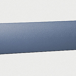 "Wall Protection Guard, Windsor Blue, Vinyl/Aluminum, 144"" Length, 8"" Height, 1-3/8"" Thickness"