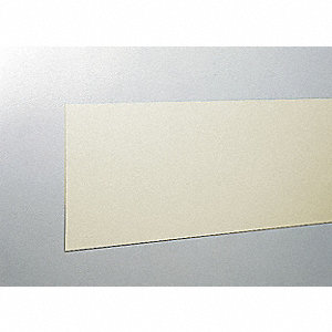 "Wall Covering, Ivory, Vinyl, 96"" Length, 8"" Height, 3/64"" Thickness"