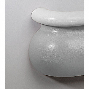 Right Handrail Inside Corner, Silver-Gray