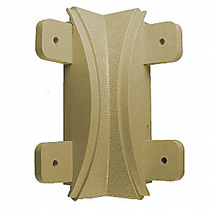 "Tan Inside Corner, Screw In, Molded Plastic, Width 1-1/16"", Height 5"", Thickness 1.062"""