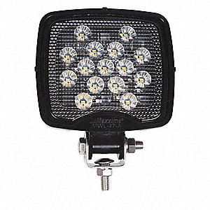 "Work Light, 675 lm, Square, LED, 4-1/4"" H"