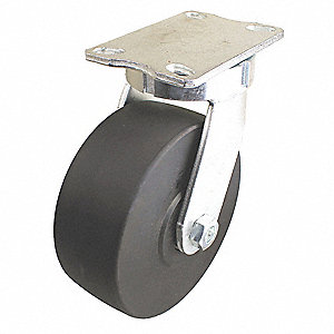 "6"" Heavy-Duty Kingpinless Swivel Plate Caster, 5400 lb. Load Rating"