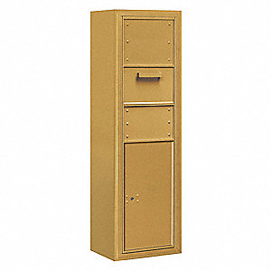 Collection Box, 4C, 1 Door, Gold
