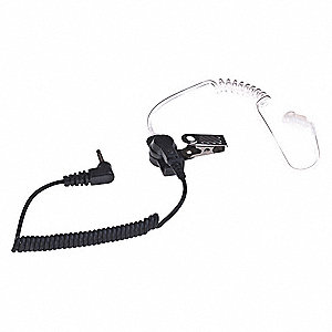 Ear Loop Earpiece, Black, Acoustic Tube