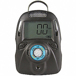 Single Gas Detector,Cl2,Black,LCD