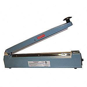 "Hand Operated Heat Sealer; Seal Length: 16"", Seal Width: 5/64"", Overall Height: 12-1/2"""