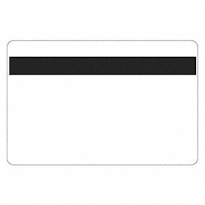 ID Cards, White, Adhesive Backed, PK100