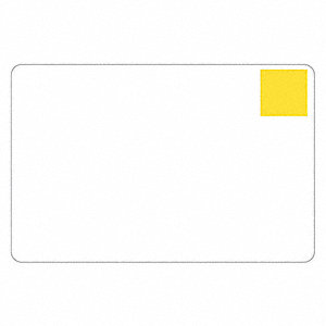 ID Cards, White, Gold Foil Patch , PK100