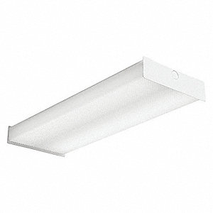 "LED Wraparound Fixture, LED, 24"" Nominal Length, 8-5/8"" Nominal Width, 33.8 Max. Fixture Wattage"