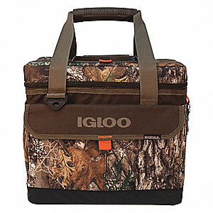 Plastic,  2.0 gal.,  Soft Sided Cooler,  Brown