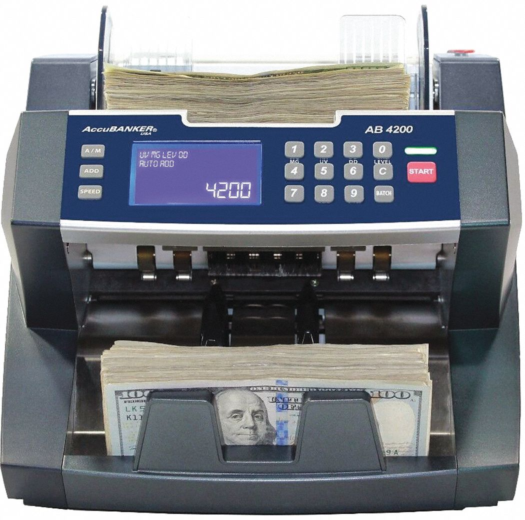 Bill Counter, 300 Bills Capacity, 110V AC, 60 Hz