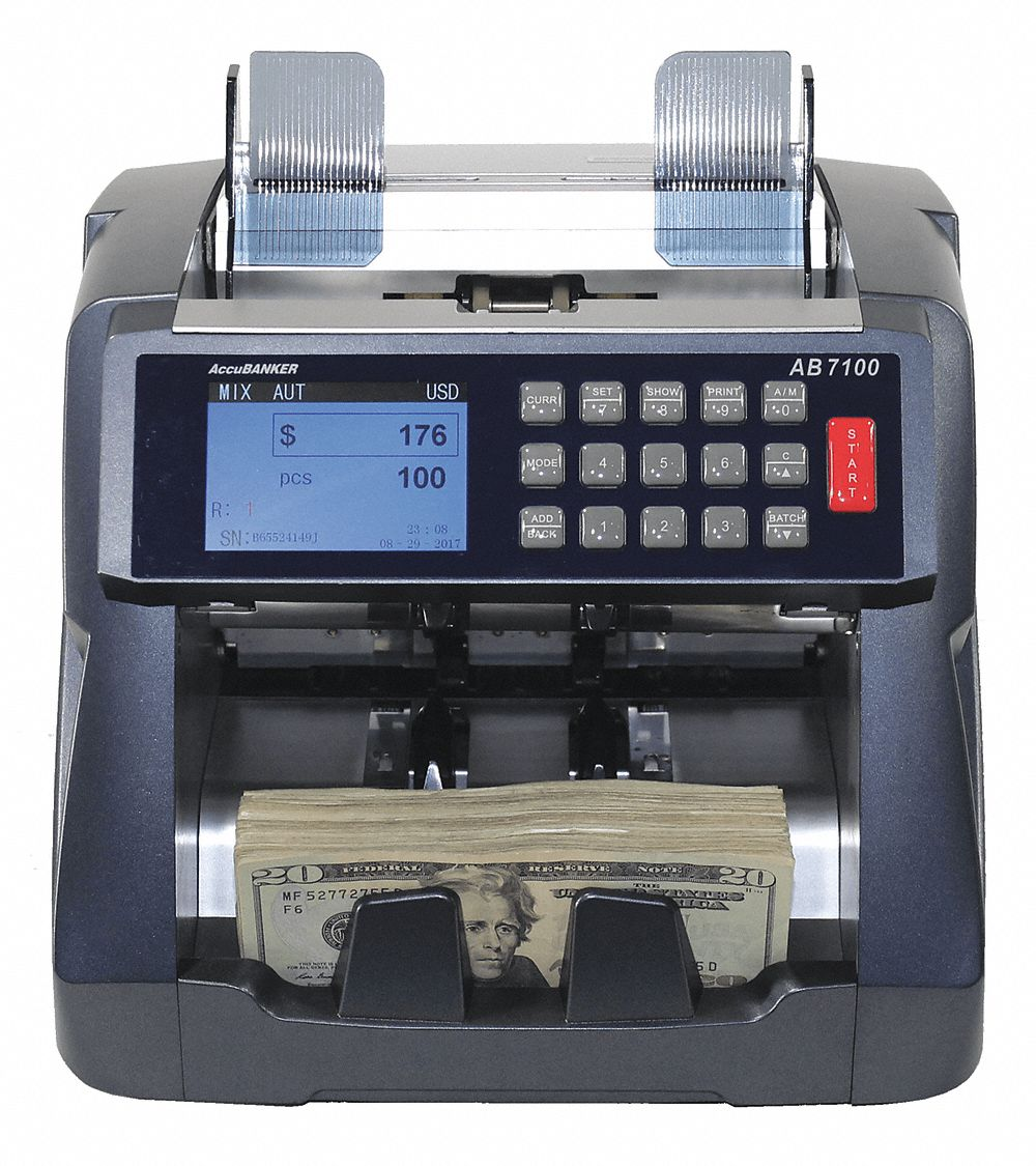 Bill Counter, 500 Bills Capacity, 110V AC, 60 Hz