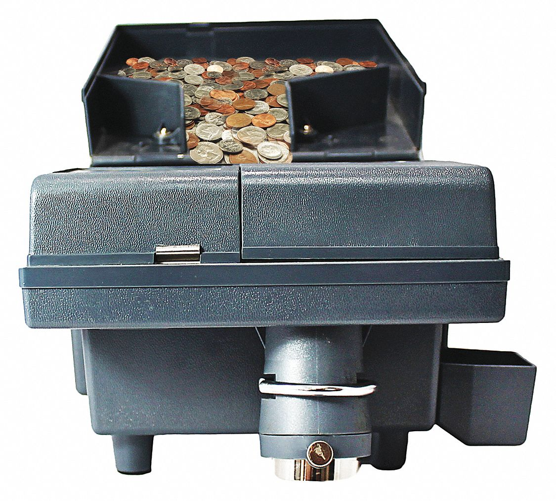 Coin Counter, 1500 Coins Capacity, 110V AC, 60 Hz