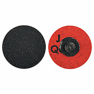 "1-1/2"" Coated Quick Change Disc, TR Roll-On/Off Type 3, 36, Extra Coarse, Ceramic Alumina, 1 EA"