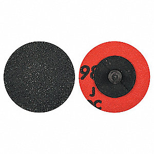 "2"" Coated Quick Change Disc, TR Roll-On/Off Type 3, 80, Coarse, Ceramic Alumina, 1 EA"