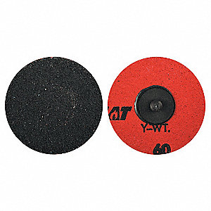 "3"" Coated Quick Change Disc, TR Roll-On/Off Type 3, 50, Coarse, Ceramic Alumina, 1 EA"
