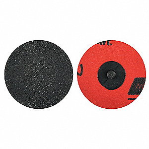 "3"" Coated Quick Change Disc, TR Roll-On/Off Type 3, 80, Coarse, Ceramic Alumina, 1 EA"