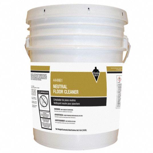 Tough Guy Neutral Floor Cleaner Liquid 5 Gal Pail 640 Gal Rtu Yield Per Container 444n61 444n61 Grainger