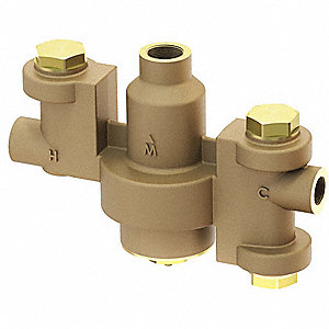 "1"" NPT Inlet Type Thermostatic Mixing Valve, Brass, 86 gpm"