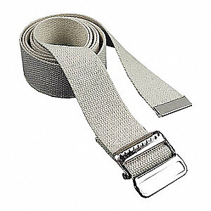 Gait Belt,  1,500 lb Weight Capacity,  84 in Length,  2 1/2 in Width,  2 in Height,  Polypropylene