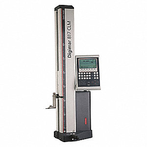"Digimar 817 CLM Height Gauge, 0 to 24""/0 to 600mm Range, 0.010mm, 0.0050mm, 0.0010mm, 0.0005mm, 0.00"